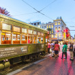 People travel with the famous old Street car St. Charles line — Stock Photo #29899437