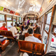 People travel with famous old Street car St. Charles line — Stock Photo #29901507