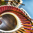 Spiral stairs to upper bedrooms and parlors — Stock Photo