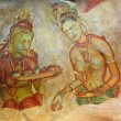 World famous frescos of ladies in Sigiriya style at the palace o — ストック写真