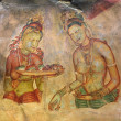 World famous frescos of ladies in Sigiriya style at the palace o — Lizenzfreies Foto