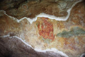 World famous frescos of ladies in Sigiriya style at the palace o — Stock Photo