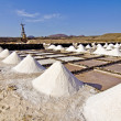 Stock Photo: Salt piles on saline exploration