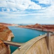 Glen Canyon Dam in Page is delivering power for the whole area — Stock Photo