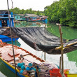 Stock Photo: Fish will be dried in fisherboat in small fishermans village