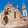 Stock Photo: Facade of catholic middle ages romanic cathedral iof San