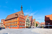Famous old romantic medieval town of Dinkelsbuehl in Bavaria, Ge — Stock Photo