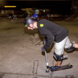 World scooter champ Dakota Schuetz shows some of his tricks — Foto de Stock