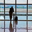 Man waiting for departure of his flight — Stock Photo