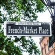 Streetsign French Market place in New Orleans in french Quarter — Stock Photo #30976525