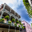 Old New Orleans houses in french Quarter — Stock Photo
