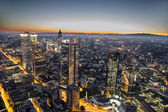 Aerial of Frankfurt by night — Stock Photo