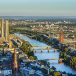 Stock Photo: Aerial of Frankfurt with ECB Building