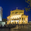 alte oper de Francfort par nuit — Photo #30980991