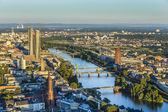 Aerial of Frankfurt with ECB Building — Stock Photo