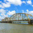 Old bridge in East area of New Orleans crossing the bay — Stock Photo