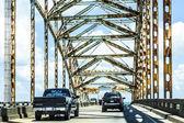 Green Bridge in new Orleans — Stock Photo