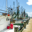 Boats for shrimps fishing in Pass Christian — Stock fotografie