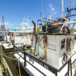Stock Photo: Boats for shrimps fishing in Pass Christian