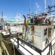 Foto Stock: Boats for shrimps fishing in Pass Christian