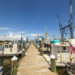 Boats for shrimps fishing in Pass Christian — Stock Photo