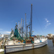 Boats for shrimps fishing in Pass Christian — Stock Photo #31135169