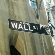 Stock Photo: Wall street streetsign in New York