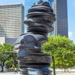 "Sculpture ""in Minds"" from Tony Cragg is placed at Gagby Street — Stock Photo"