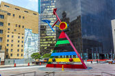 Sculpture Personage and Birds by Joan Miro in Houston — Stock Photo