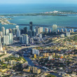 Aerial of town and beach of Miami — Foto Stock