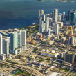 Aerial of town and beach of Miami — Stockfoto