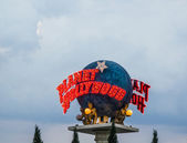 Planet Hollywood globe — Stock Photo