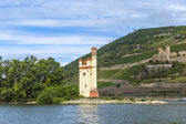Maeuseturm in Bingen, Germany Rhine valley — Stock Photo