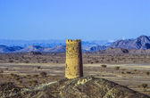 Old fortress tower in Al Mudayrib, a famous mountain village in — Stockfoto