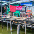 Fishermans hut in Koh Samet on the water — Stock Photo