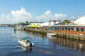 Old city dock in tropical Naples Florida — Stock Photo