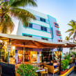 View at Ocean drive with starlite hotel in Miami in the art dec — Stock Photo #32412405