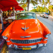 Old Car parked on Ocean Drive, Miami Beach — Stock Photo