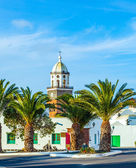 Belltower of the Iglesia San Miguel in Teguise — Stock Photo