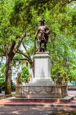 Memorial in Savannah for General Oglethorpe — Stock Photo