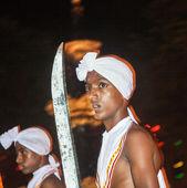 Dancer participates the festival Pera Hera in Kandy — Stock Photo