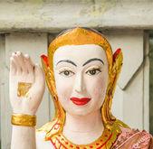 Buddha gives a peace sign — Stock Photo