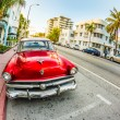 Classic Ford car parks in the art deco district — Stock Photo #32701063
