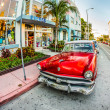 Classic Ford car parks in the art deco district — Stock Photo #32701485