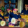 Gamelan ensemble plays during the Galungan festival — Stock Photo