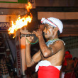 Musician participate the festival Pera Hera in Kandy — Stock Photo
