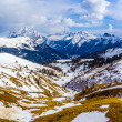 Dolomite mountains, Sella pass — Stock Photo