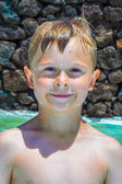 Boy at the pool — Stock Photo