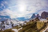 Dolomite mountains, Sella pass — Stock Photo