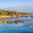 Coastline at Point Lobos in Sunset — Stock Photo